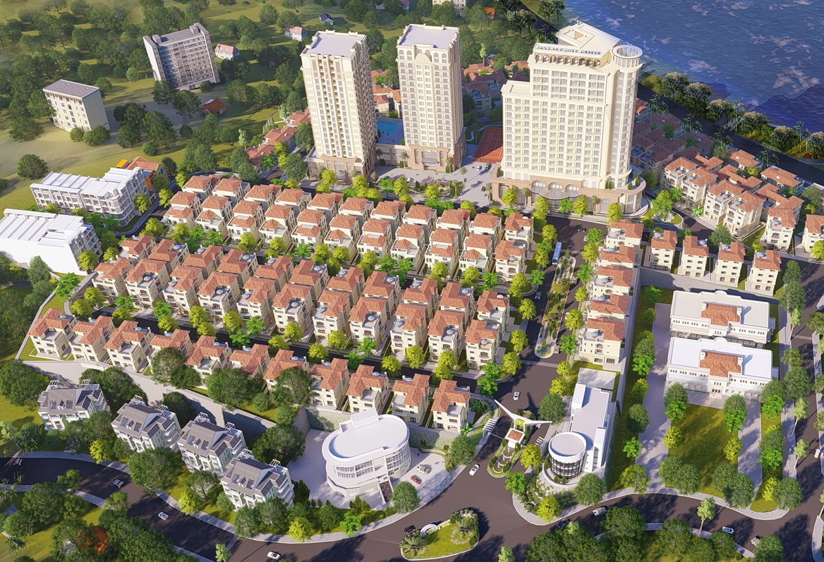 Phối cảnh tổng thể dự án Beverly Hills Hạ Long