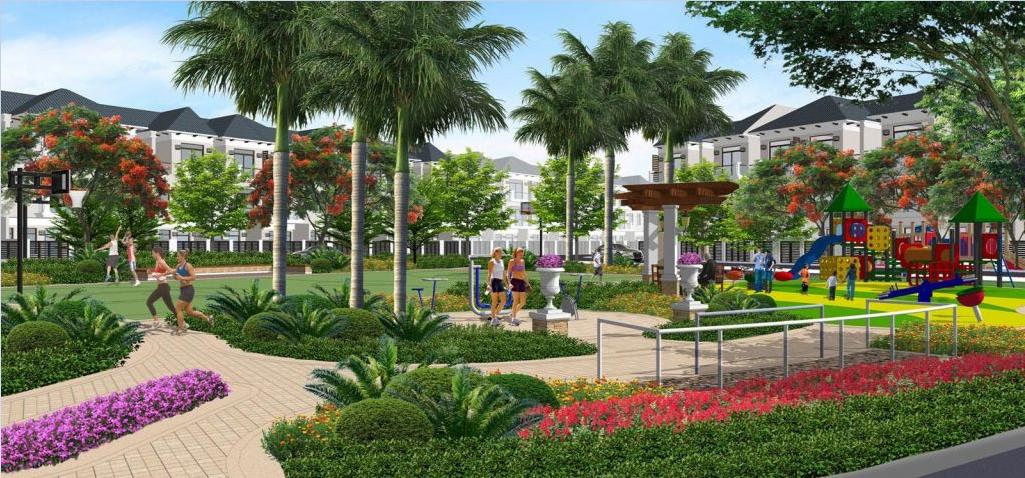 Phối cảnh công viên khu dân cư Hòa Phú Town Củ Chi