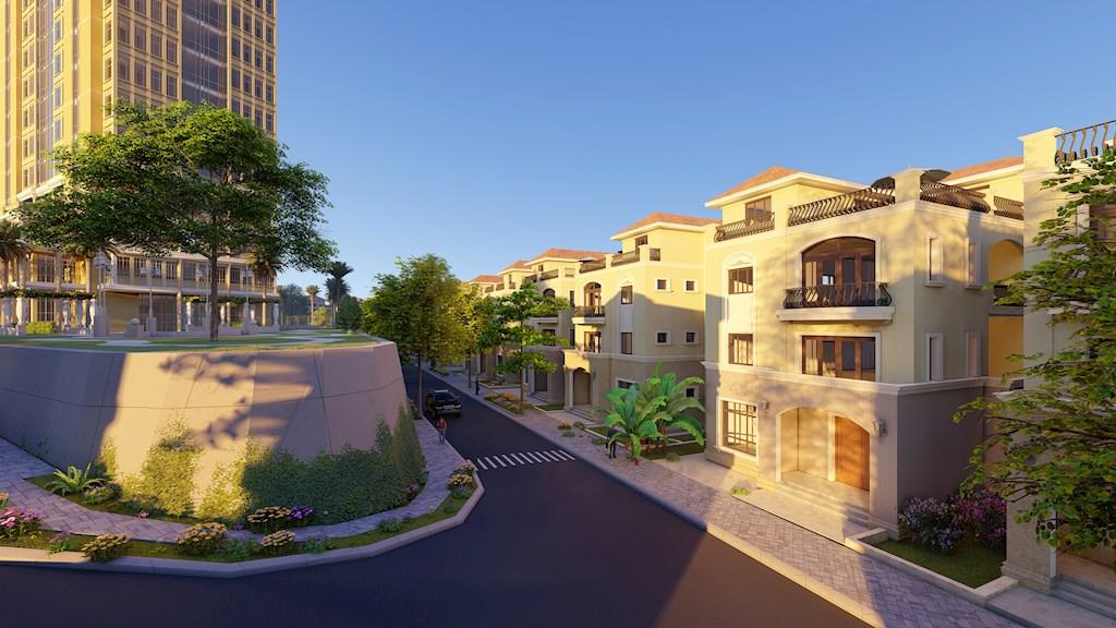 Phối cảnh các căn biệt thự tại khu phức hợp Beverly Hills Hạ Long