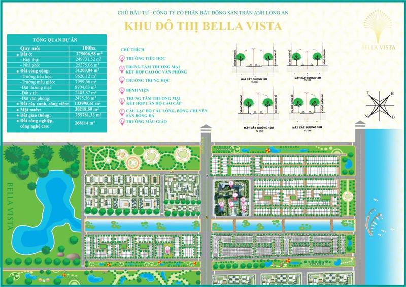 Mặt bằng tổng thể khu đô thị Bella Vista Long An