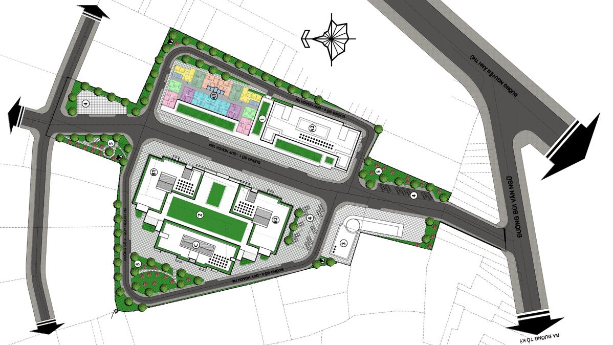 Mặt bằng tổng thể dự án căn hộ ST City Hóc Môn