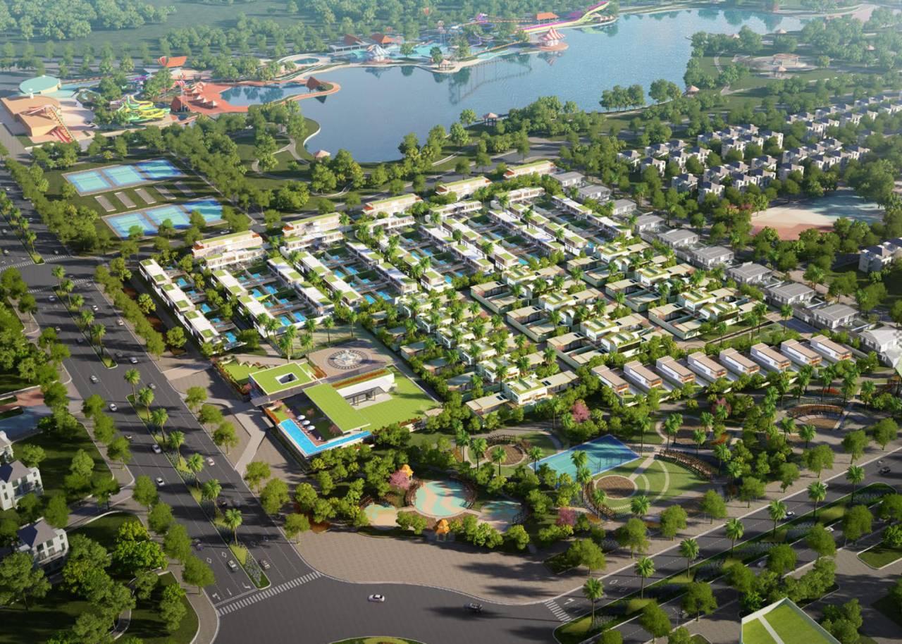 Phối cảnh tổng thể dự án biệt thự Sailing Club Resort Phu Quoc