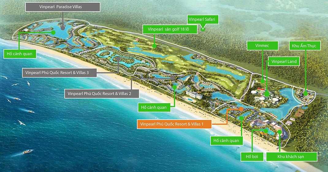 Phối cảnh tổng thể dự án nghỉ dưỡng Vinpearl Phú Quốc