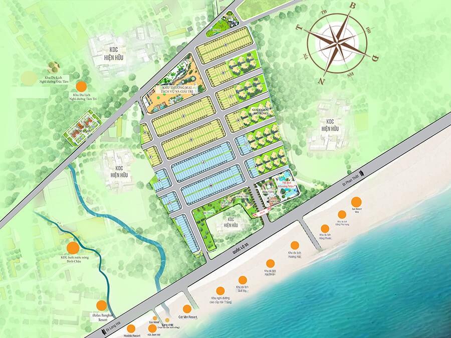 Mặt bằng phân lô khu đô thị Seaway Bình Châu
