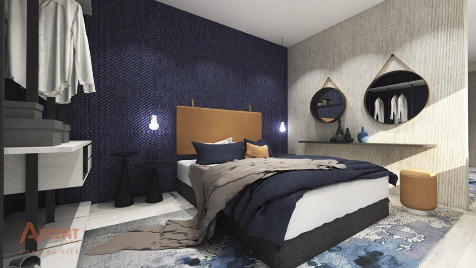 Phòng ngủ tại nhà mẫu dự án Ascent Plaza quận Bình Thạnh