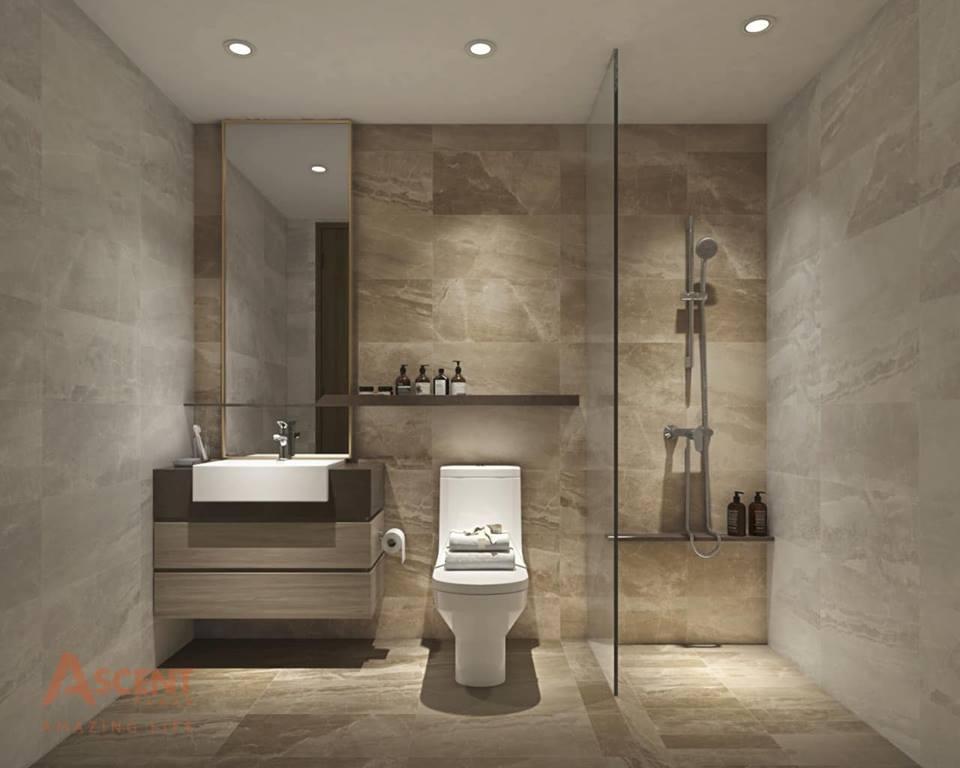 Phòng vệ sinh tại nhà mẫu căn hộ Ascent Plaza quận Bình Thạnh