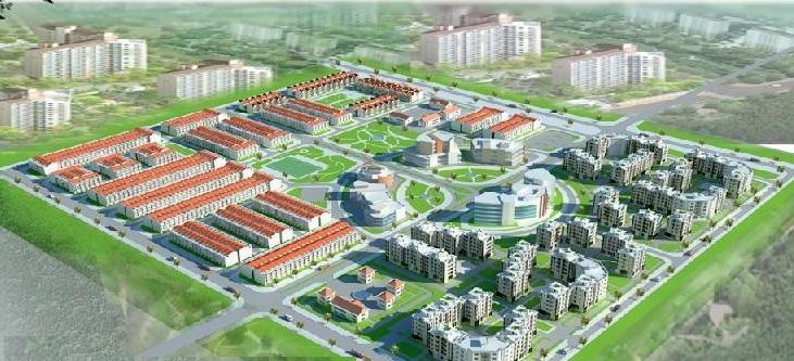 Phối cảnh tổng thể khu dân cư Bàu Xéo Đồng Nai
