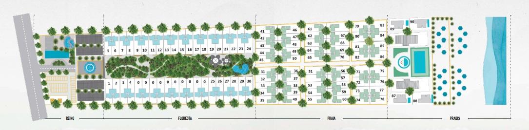 Mặt bằng tổng thể dự án khu biệt thự Perolas Villa tại tỉnh Bình Thuận
