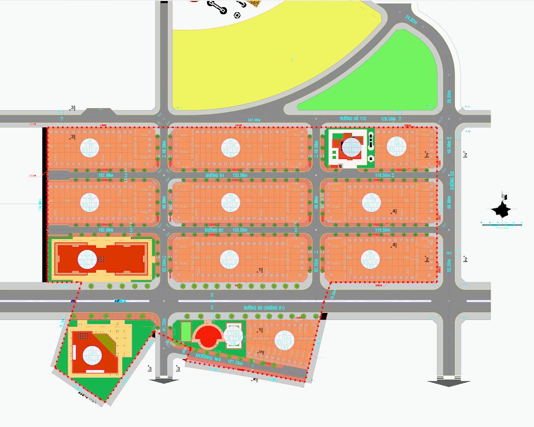 Mặt bằng tổng thể dự án Ecotown Phú Mỹ Bà Rịa – Vũng Tàu
