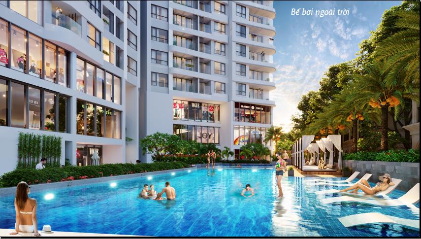Phối cảnh bể bơi ngoài trời dự án condotel Best Western Premier Sapphire Ha Long
