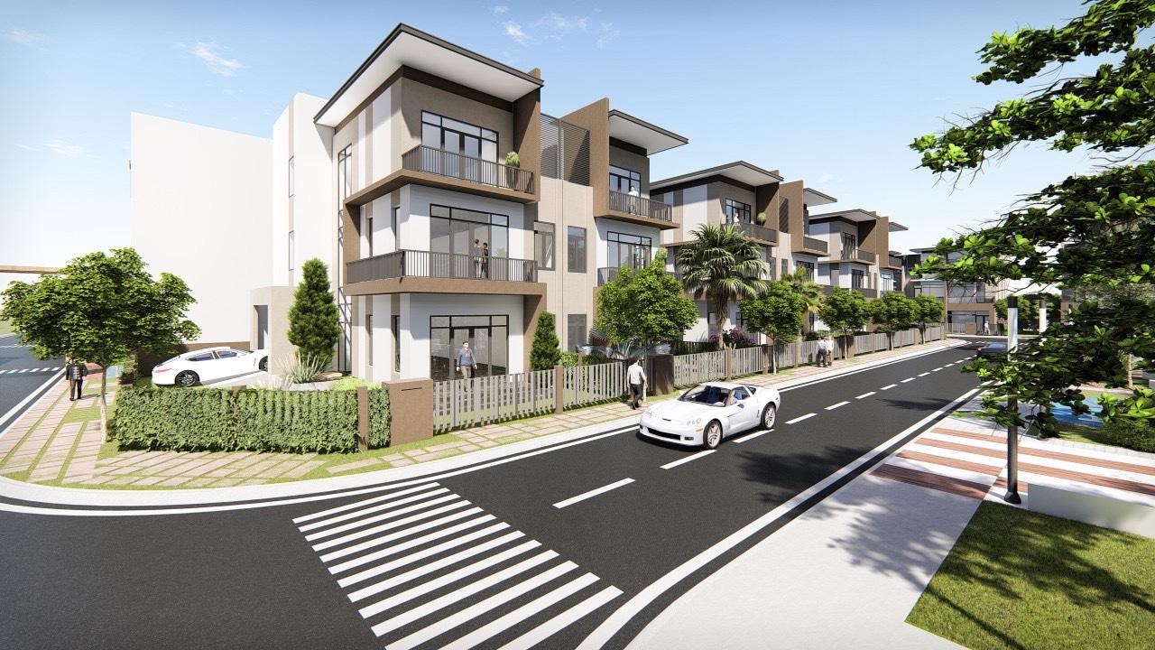 Phối cảnh một phần các dãy nhà phố tại dự án Pax Residence Nhà Bè