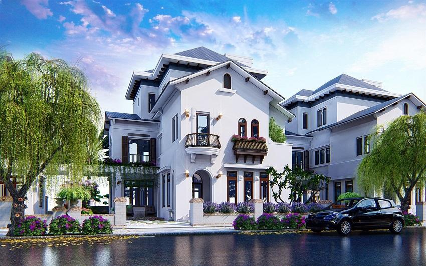 Phối cảnh căn biệt thự điển hình dự án Bảo Ninh Sunrise Đồng Hới