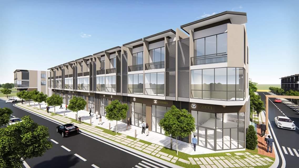 Phối cảnh các căn nhà phố của dự án khu dân cư Pax Residence