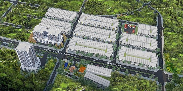 Phối cảnh khu dân cư Ecotown Phú Mỹ
