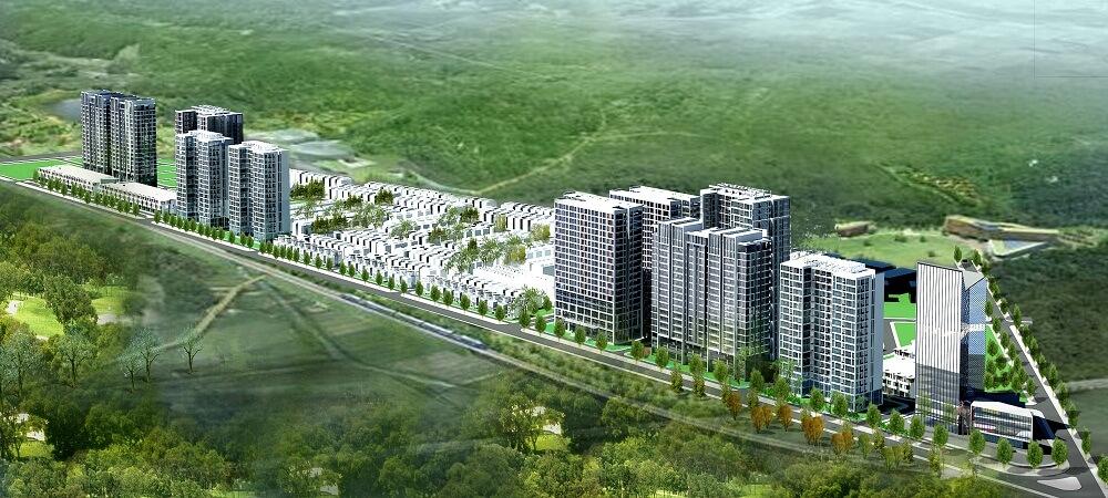 Phối cảnh khu dân cư Số 1 – Tây Nam Long Điền
