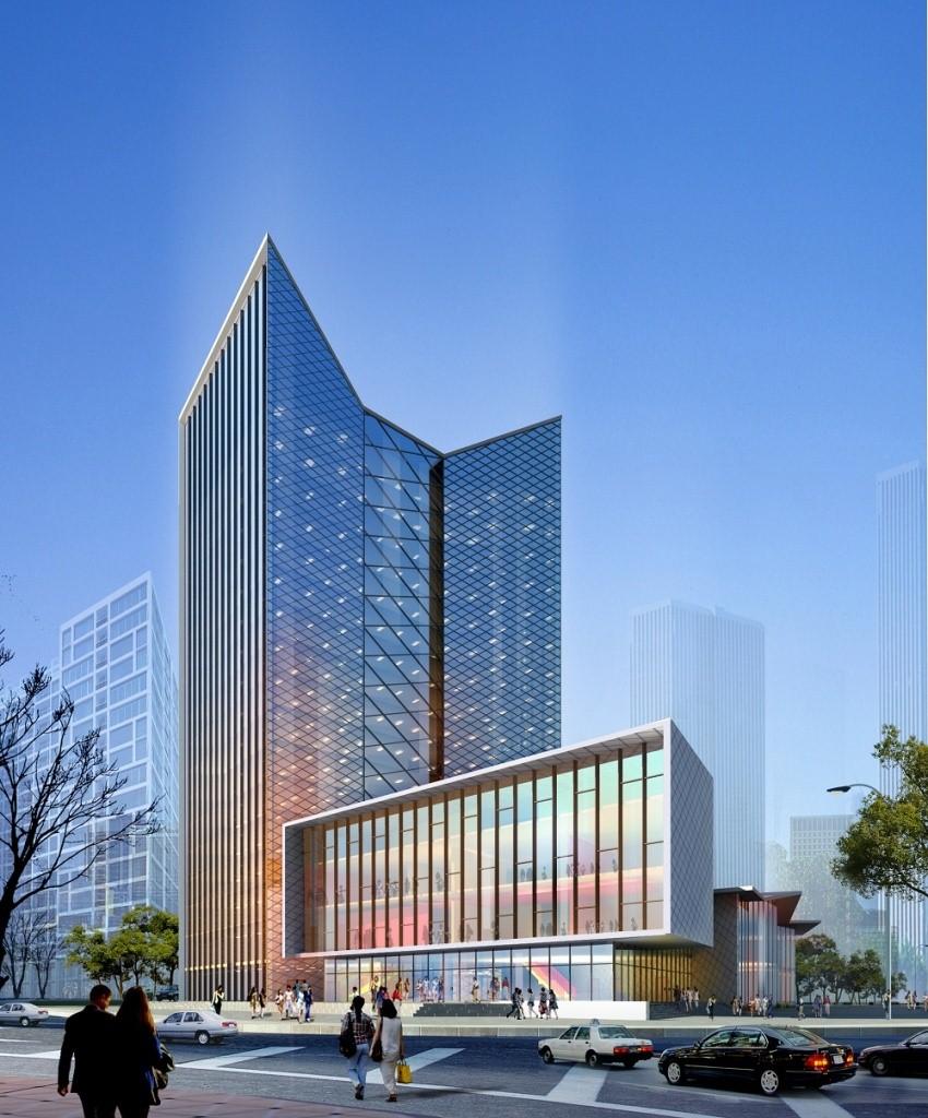 Phối cảnh tòa nhà thương mại khu dân cư số 1 – Tây Nam Long Điền