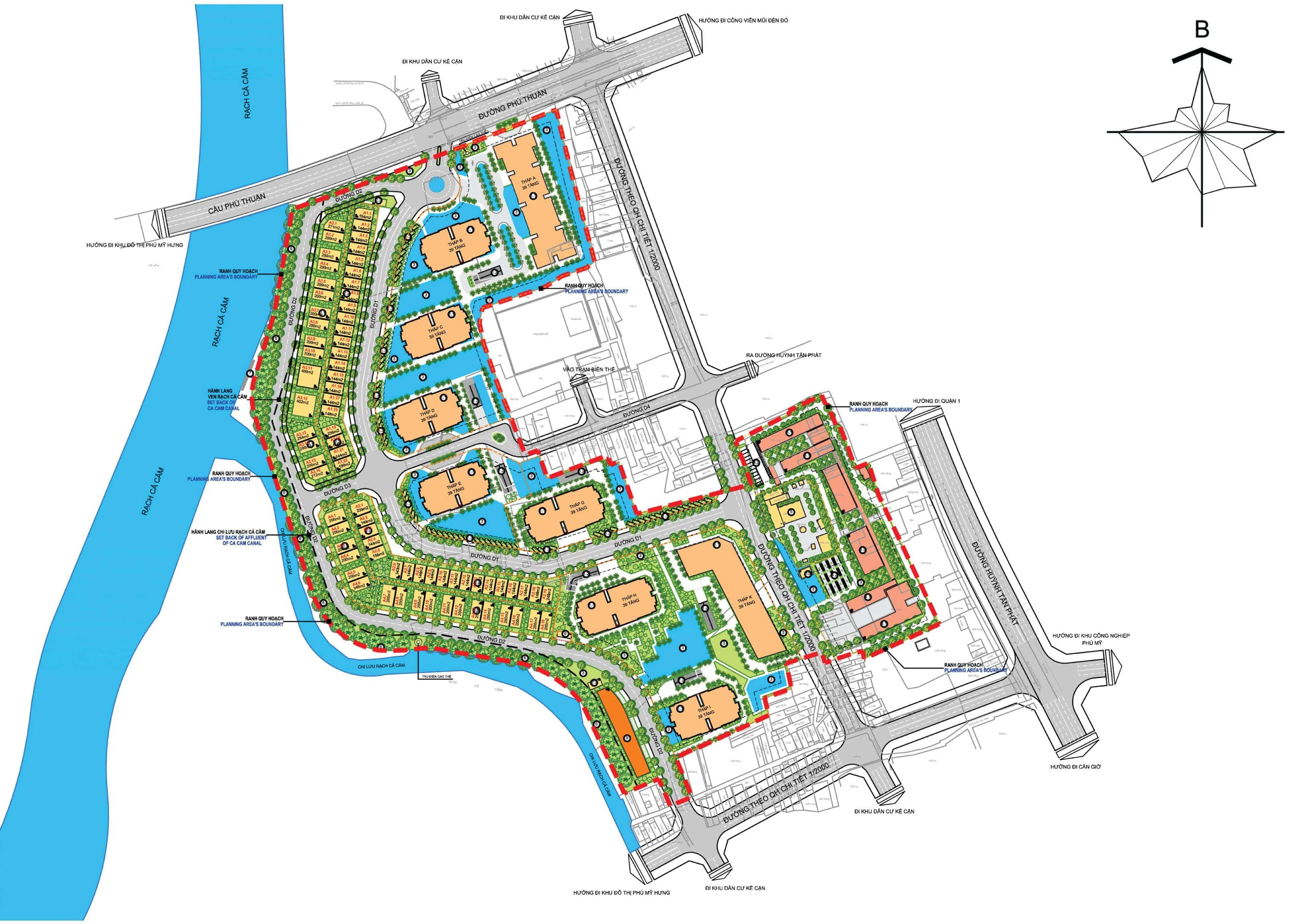 Mặt bằng tổng thể dự án Sunshine City Sài Gòn quận 7