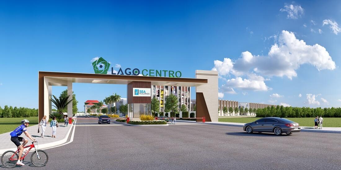 Phối cảnh cổng chào vào bên trong dự án Lago Centro