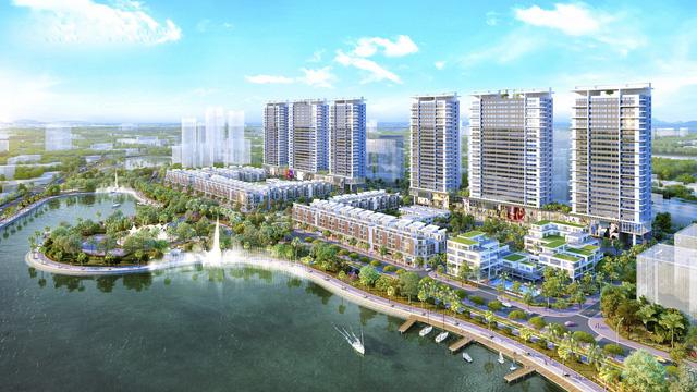 Phối cảnh tổng thể khu nhà phố thương mại Khai Son Town quận Long Biên