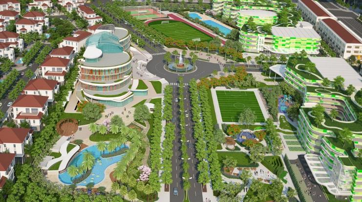 Phối cảnh tổng thể loạt các tiện ích nội khu dự án biệt thự Saroma quận 2
