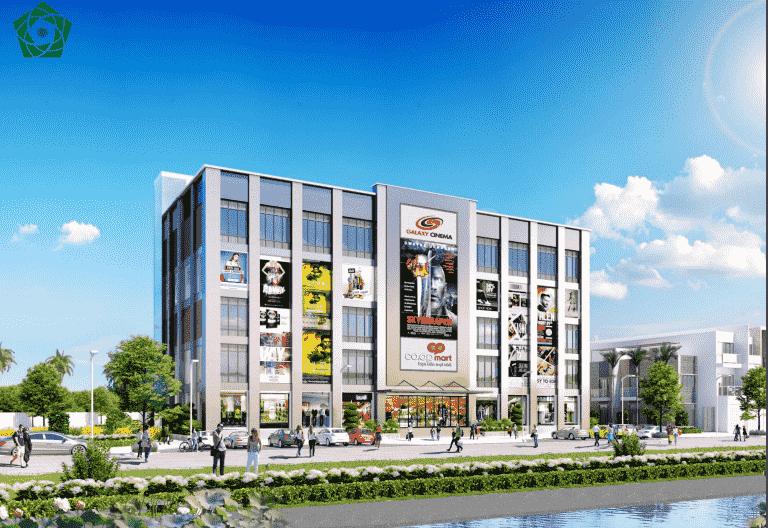 Phối cảnh trung tâm thương mại tại dự án Lago Centro
