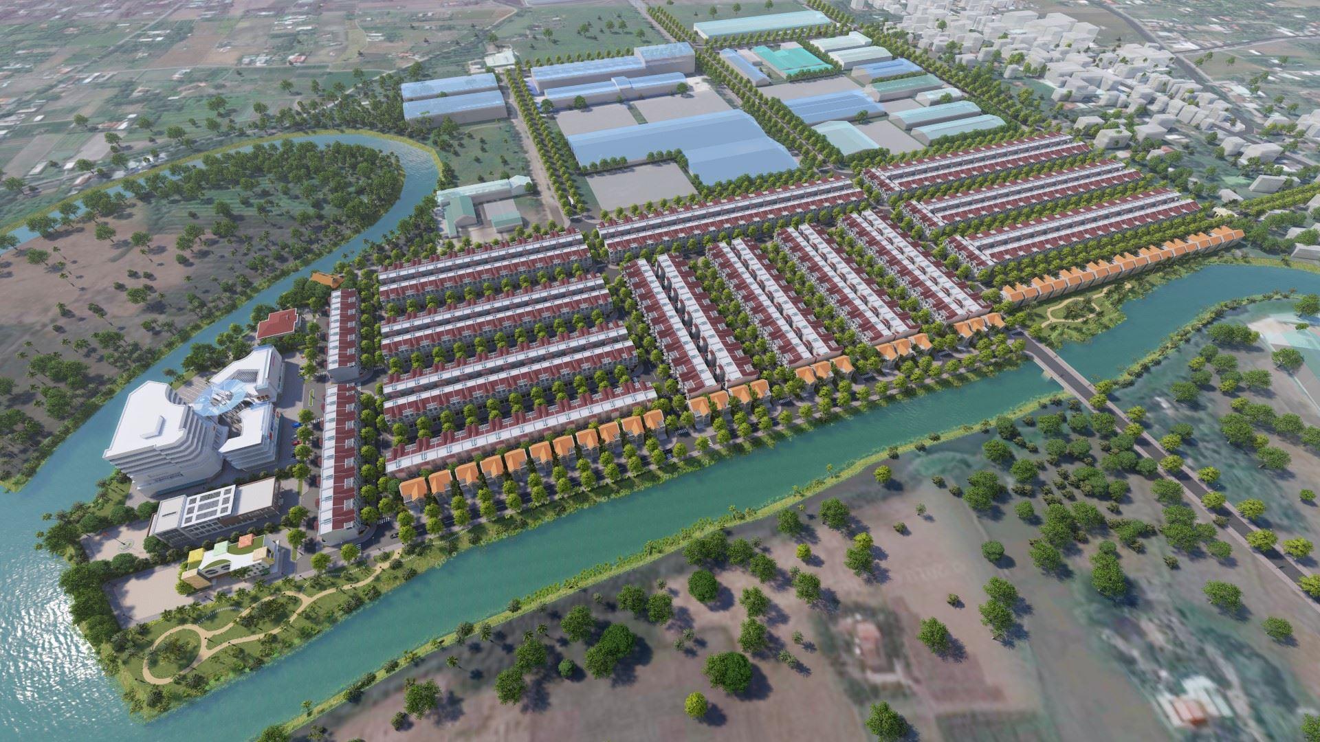 Phối cảnh tổng thể dự án khu dân cư BNC Dragon tỉnh Long An