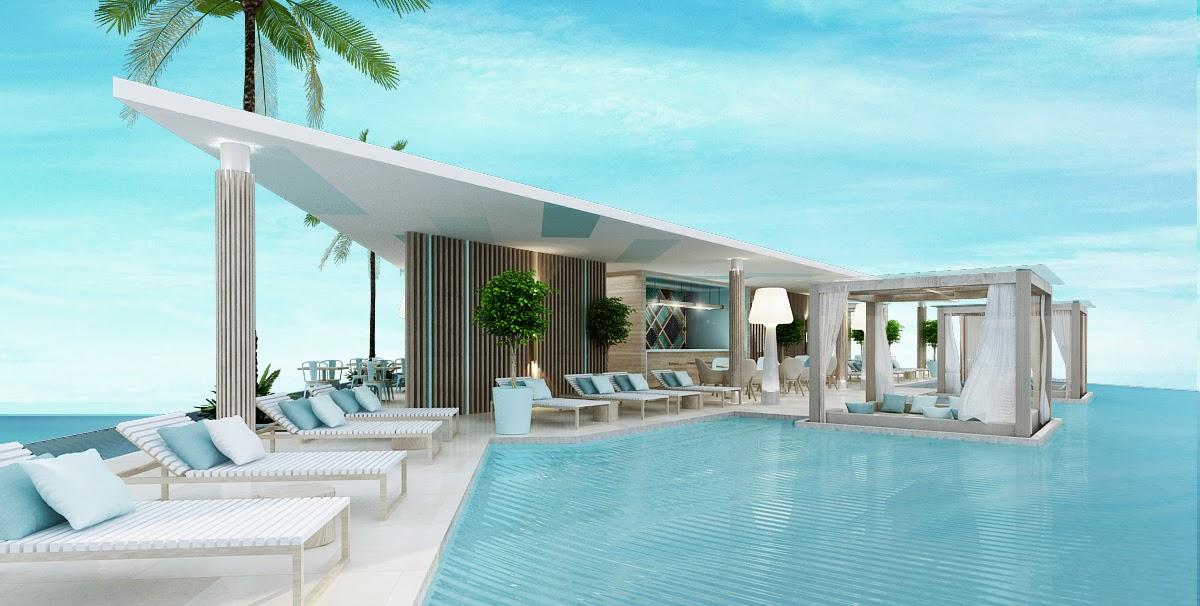 Phối cảnh hồ bơi trên tầng mái tại dự án Fusion Suites