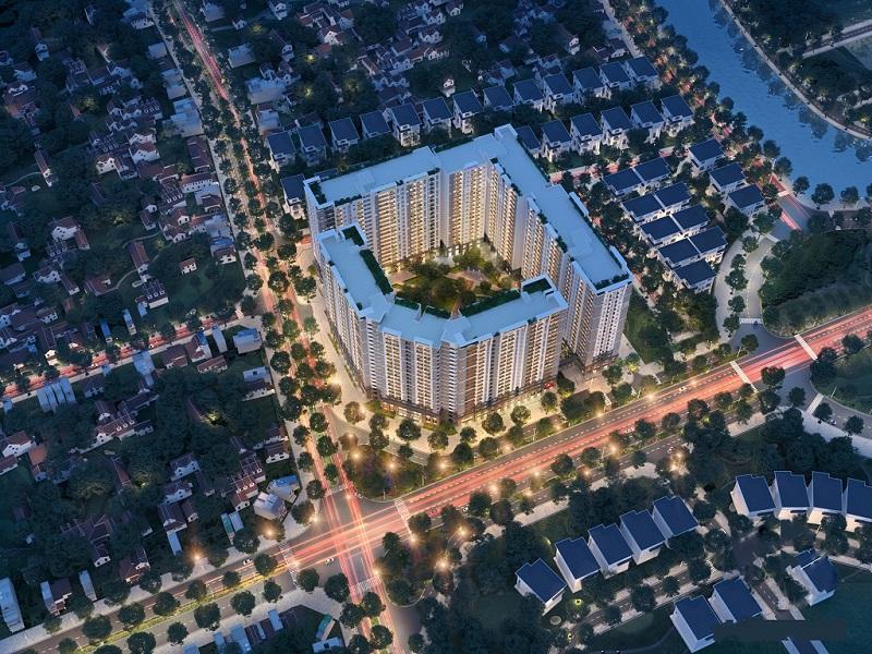 Phối cảnh tổng thể khu căn hộ Hope Residence quận Long Biên