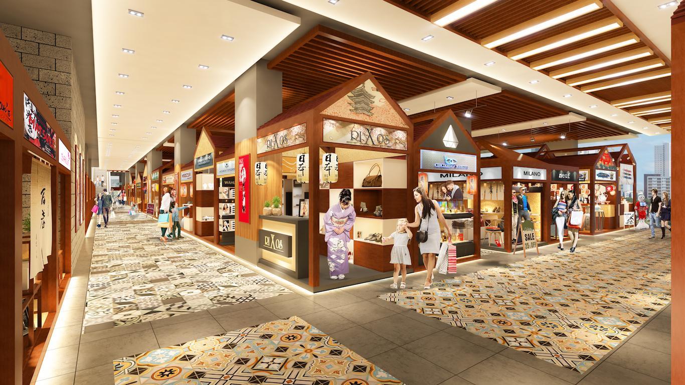 Phối cảnh tầng 2 dự án Saigon Metro Mall quận 8