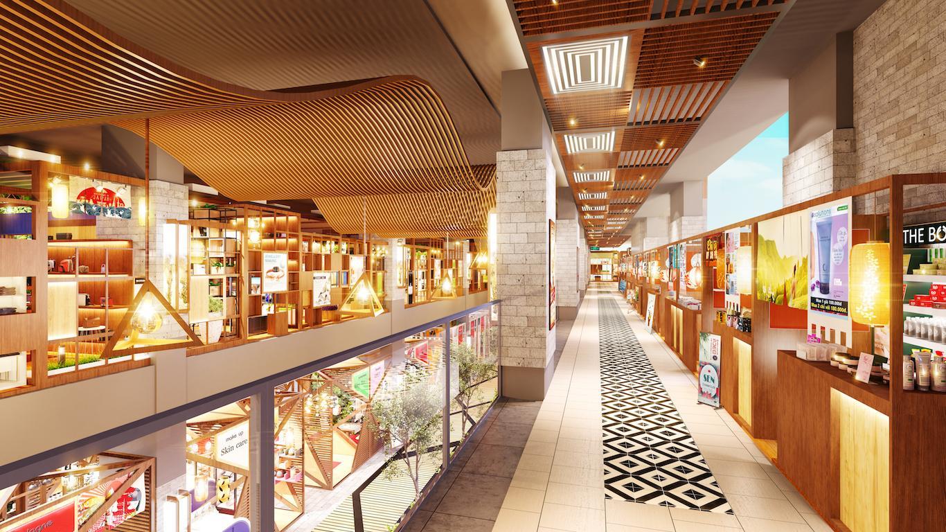 Phối cảnh khu mua sắm tại trung tâm thương mại Saigon Metro Mall quận 8