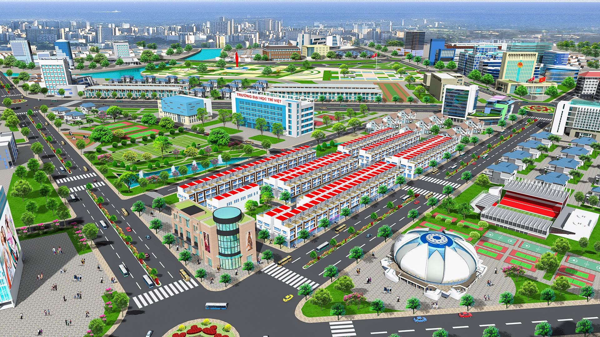 Phối cảnh tổng thể dự án đất nền Bà Rịa Gold City