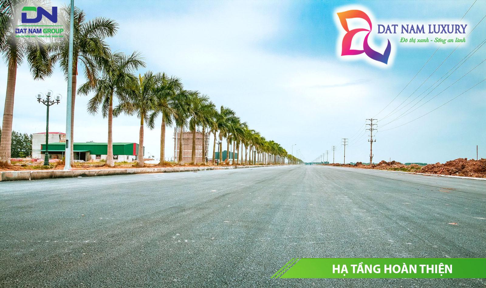 Thực tế hạ tầng tại dự án đất nền Đất Nam Luxury huyện Bình Chánh