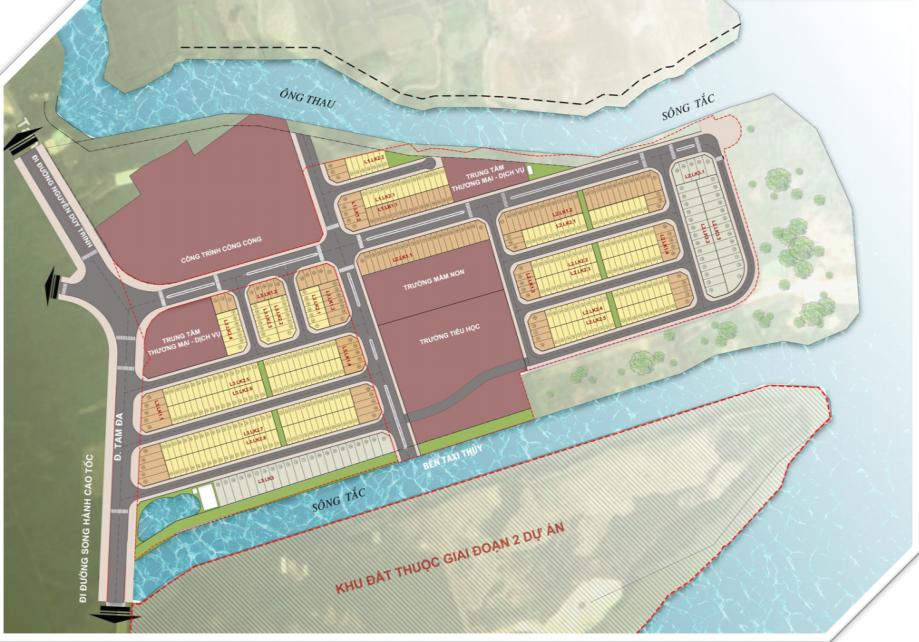 Mặt bằng tổng thể dự án đất nền Green City quận 9