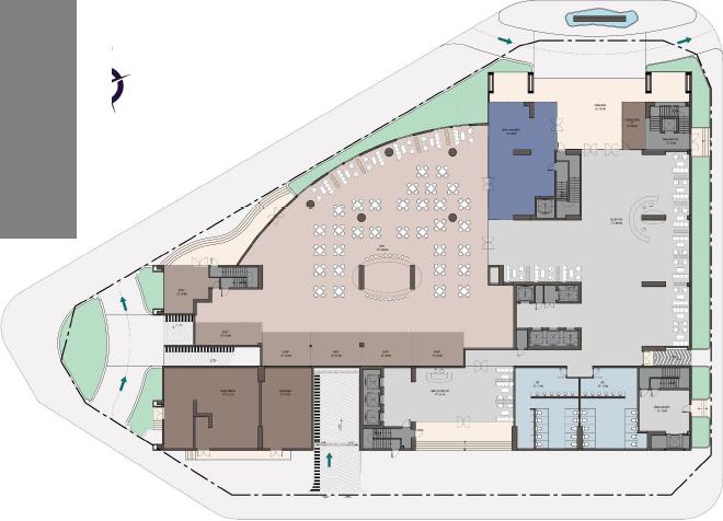 Mặt bằng tầng tiện ích (tầng 1) dự án căn hộ Ramada by Windham Ha Long Bay View