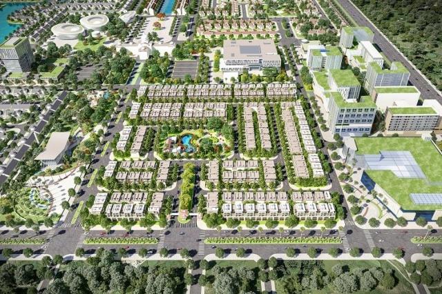 Phối cảnh khu B1 (An Khang) bên trong dự án Everde City tỉnh Long An