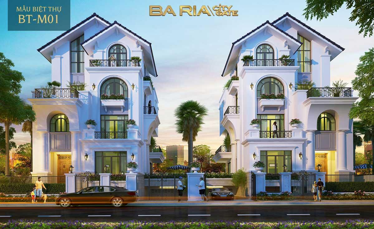 Phối cảnh mẫu nhà biệt thự dự án Bà Rịa City Gate