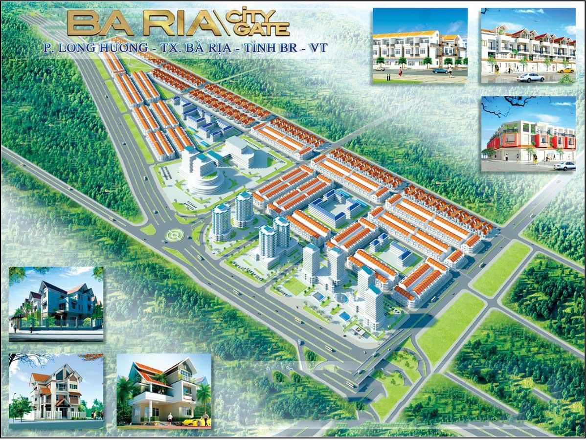 Phối cảnh tổng thể dự án khu đô thị Baria City Gate