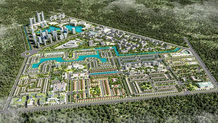 Phối cảnh tổng thể dự án Everde City tỉnh Long An