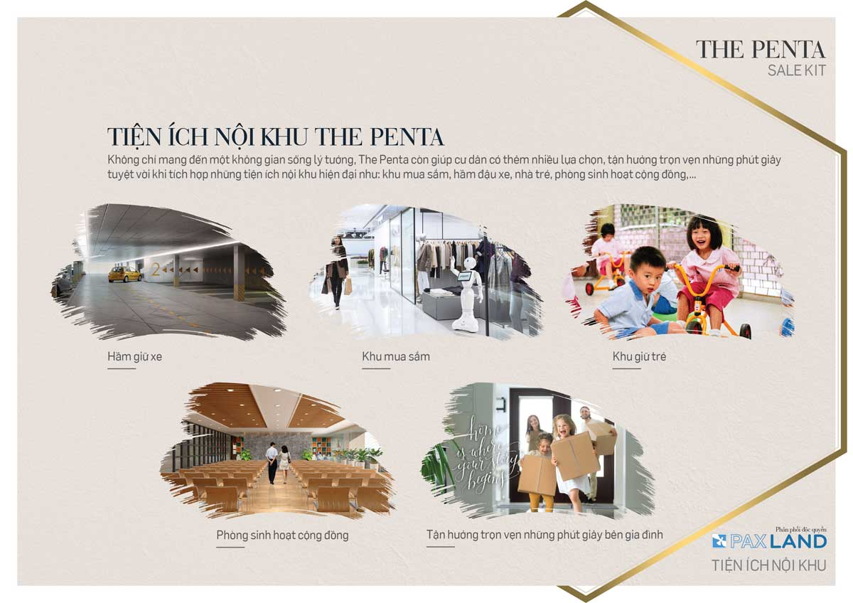 Loạt tiện ich nội khu dự án The Penta quận Bình Thạnh