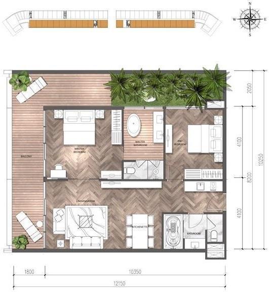 Mặt bằng căn biệt thự điển hình dự án Malibu MGM Hội An Resorts & Villas