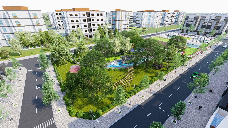 Phối cảnh công viên nội khu dự án khu dân cư Đại Nam