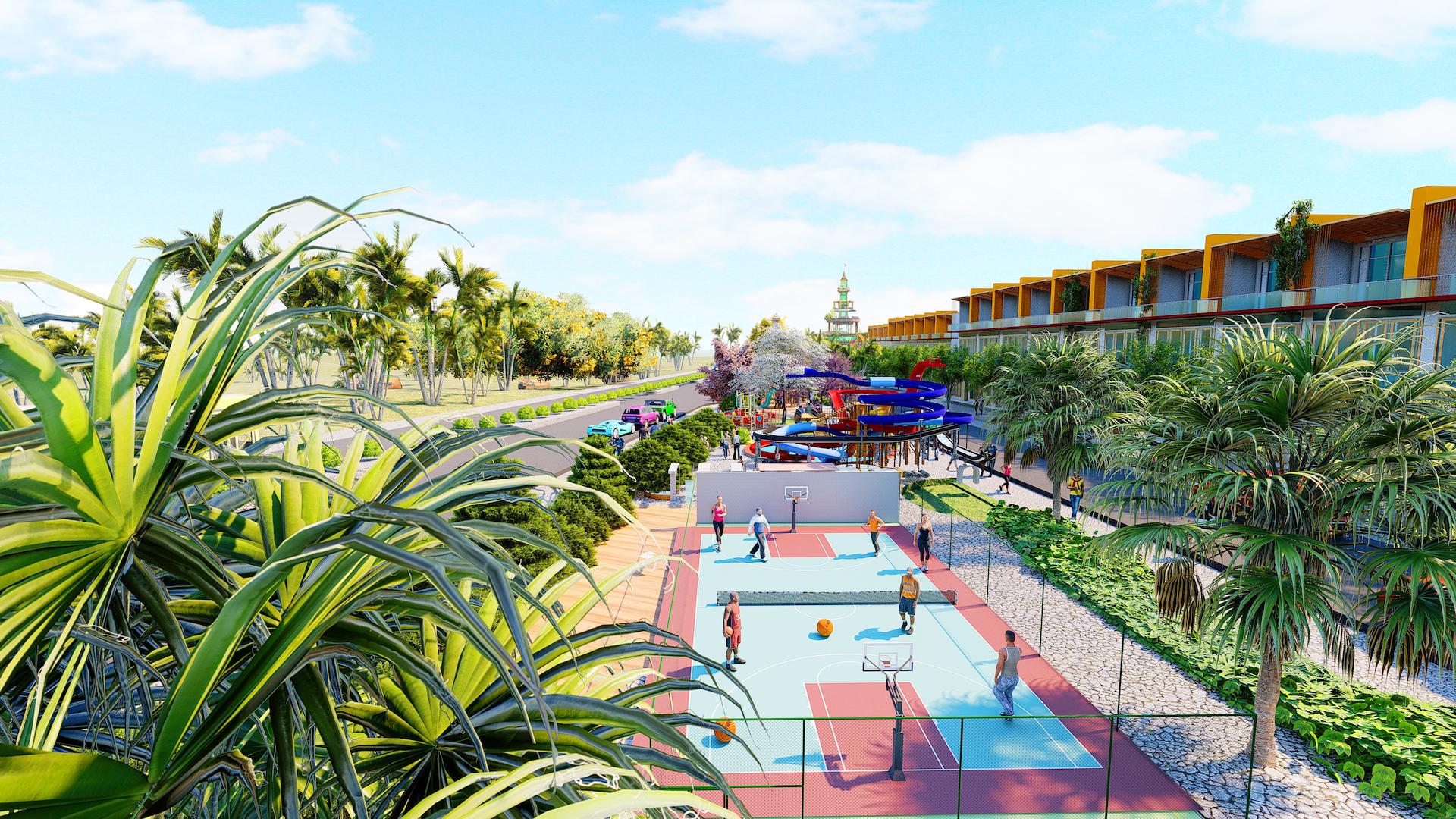 Phối cảnh khuôn viên khu thể dục thể thao bên trong dự án Ocean Gate