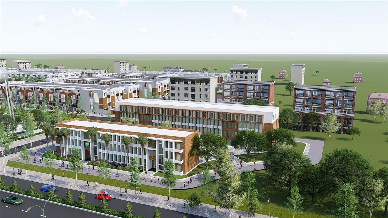 Phối cảnh một góc dự án khu dân cư Đại Nam tỉnh Bình Phước