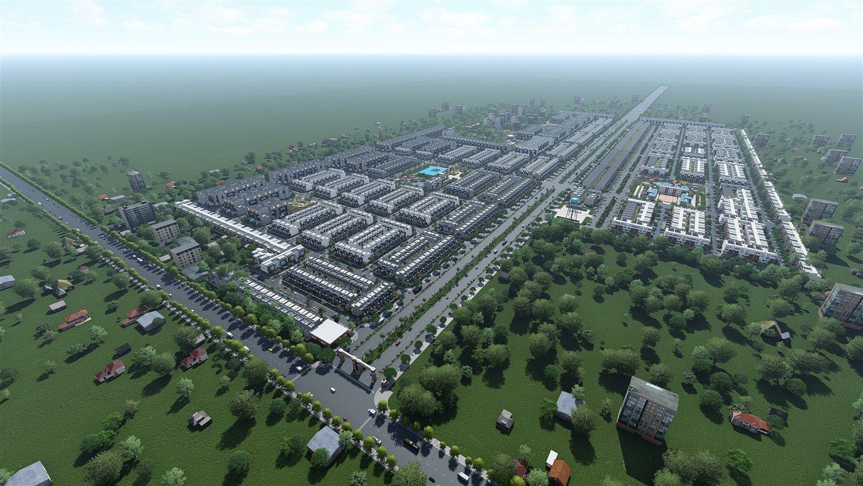 Phối cảnh tổng thể dự án khu dân cư Đại Nam tỉnh Bình Phước