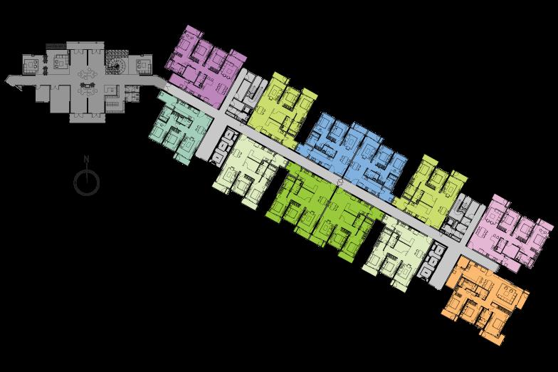 Mặt bằng tầng điển hình (tầng trệt) tháp Diamond Brilliant – B3
