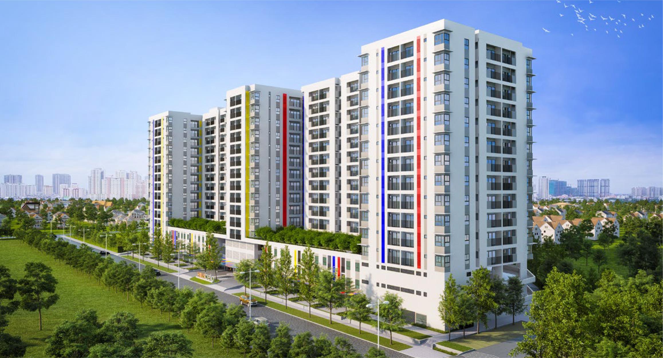 Phối cảnh tổng thể dự án căn hộ Hausbelo quận 9