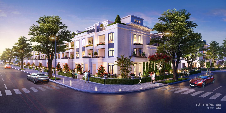 Phối cảnh khu nhà phố liền kề dự án Cát Tường Phú Hưng tỉnh Bình Phước