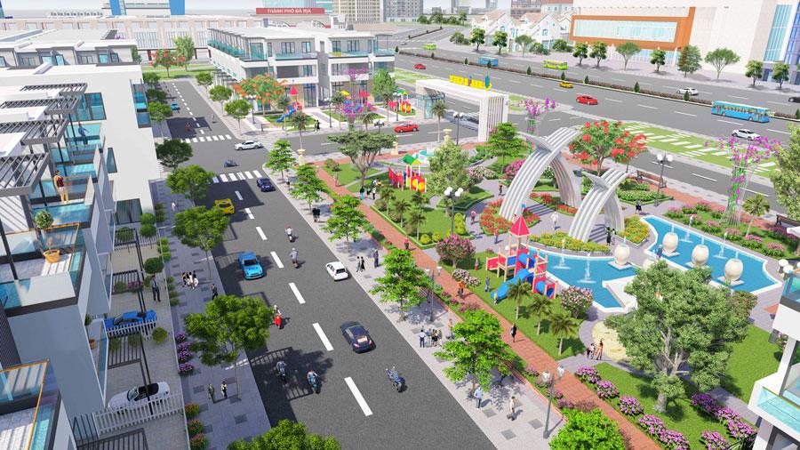Phối cảnh công viên nội khu dự án Felix City Bà Rịa – Vũng Tàu