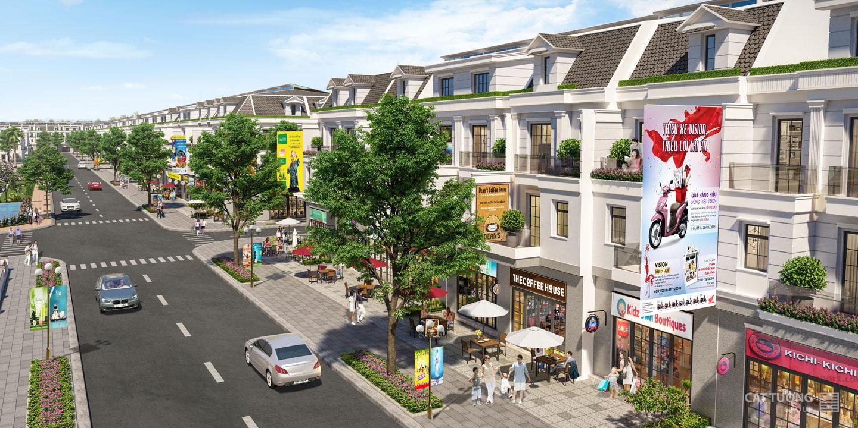 Phối cảnh khu nhà phố thương mại dự án Cát Tường Phú Hưng tỉnh Bình Phước