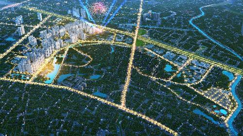 Phối cảnh tổng thể khu đô thị VinCity Sportia